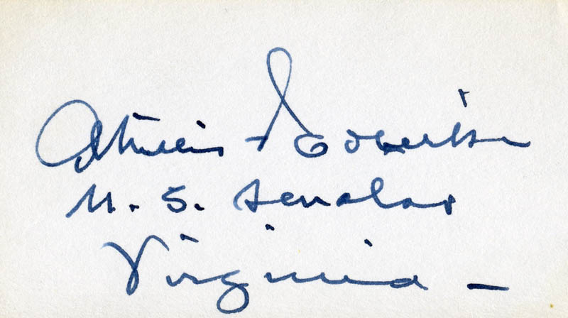 Image 1 for Absalom Willis Robertson - Autograph - HFSID 85729