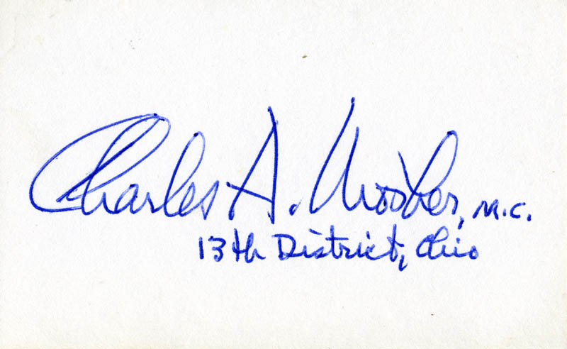Image 1 for Charles A. Mosher - Autograph - HFSID 85730