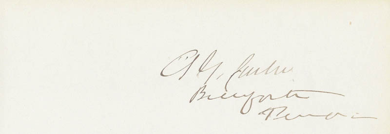 Image 1 for Andrew G. Curtin - Autograph - HFSID 85797