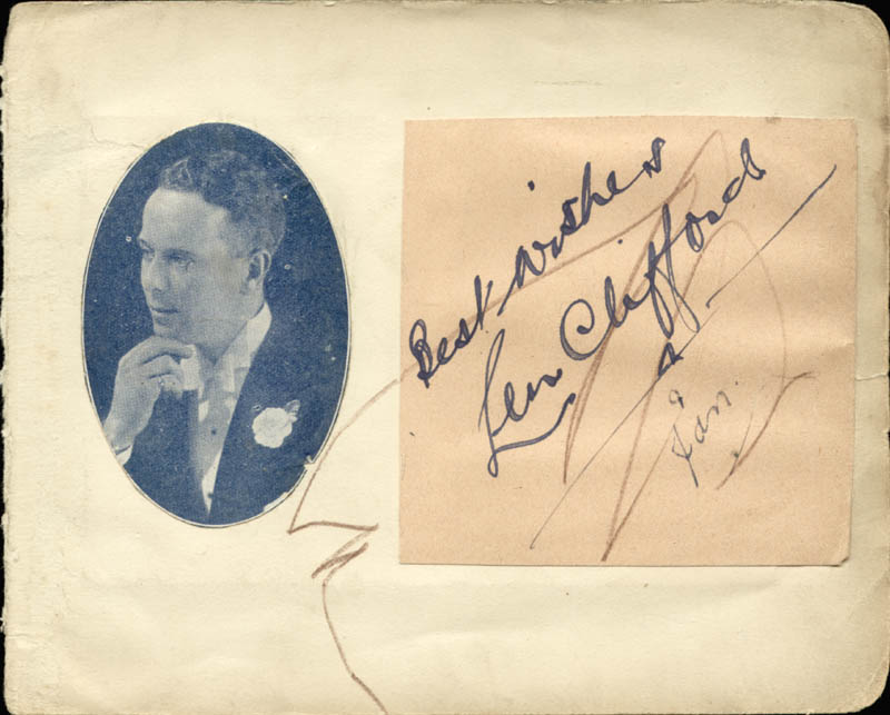 Image 3 for Barry Morse - Autographed Signed Photograph 1939 co-signed by: Len Clifford - HFSID 85824