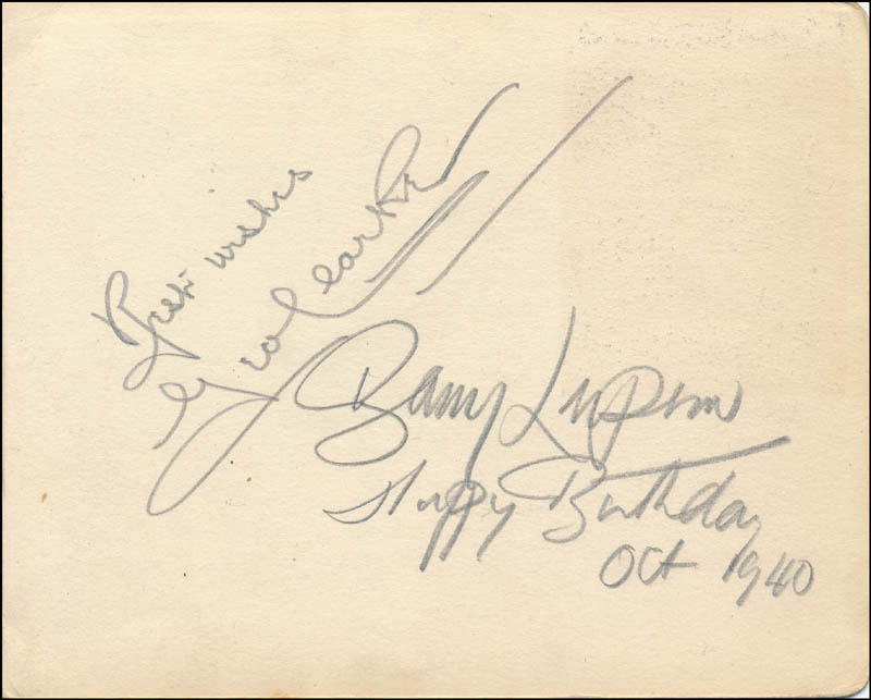 Image 5 for Barry Morse - Autograph 1939 co-signed by: Peggy (Peggy O'Day) O'Dare, Marjorie Sommerville, Sydney Sturgess, Campbell Singer - HFSID 85825