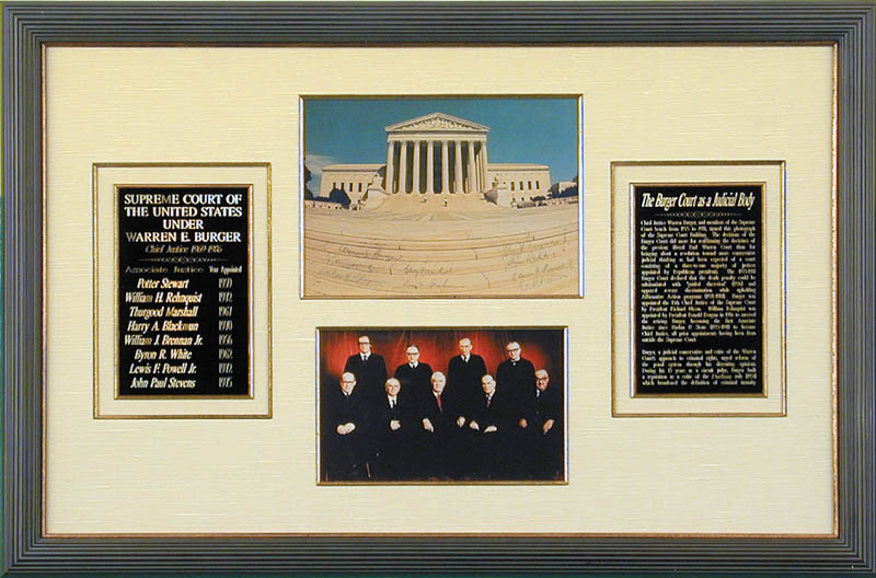 Image 1 for The Warren E. Burger Court - Autographed Signed Photograph with co-signers - HFSID 86189