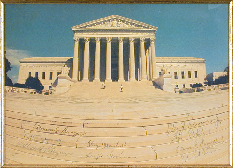 Image 3 for The Warren E. Burger Court - Autographed Signed Photograph with co-signers - HFSID 86189