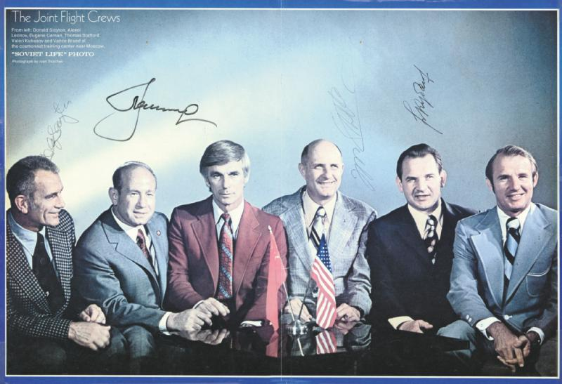 Image 1 for Apollo - Soyuz Crew - Autographed Signed Photograph with co-signers - HFSID 86834