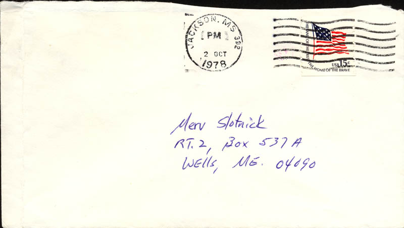 Image 1 for Eudora Welty - Autograph Envelope Unsigned Circa 1978 - HFSID 86880