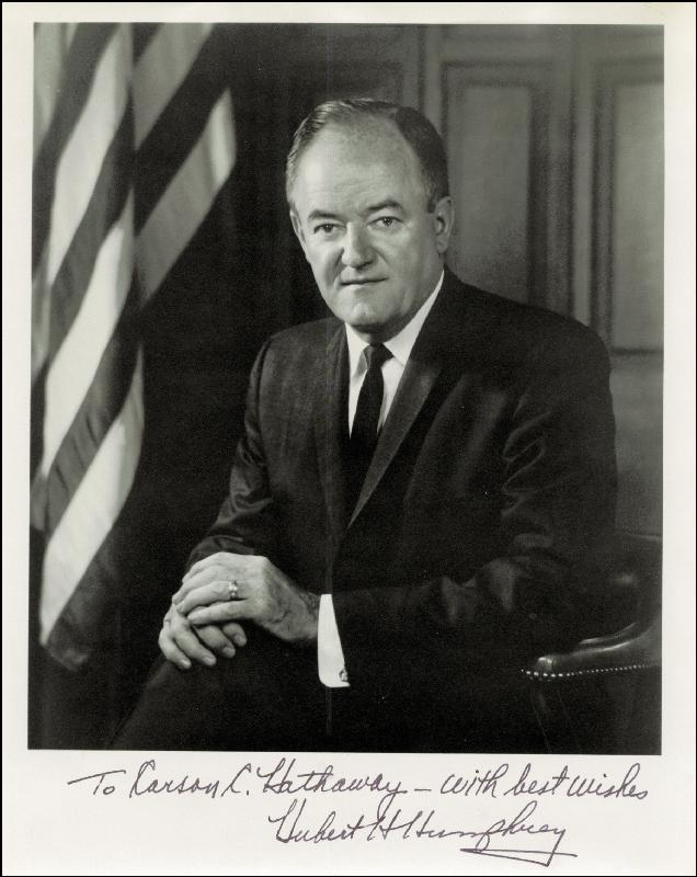 Image 1 for Vice President Hubert H. Humphrey - Autographed Inscribed Photograph - HFSID 86908