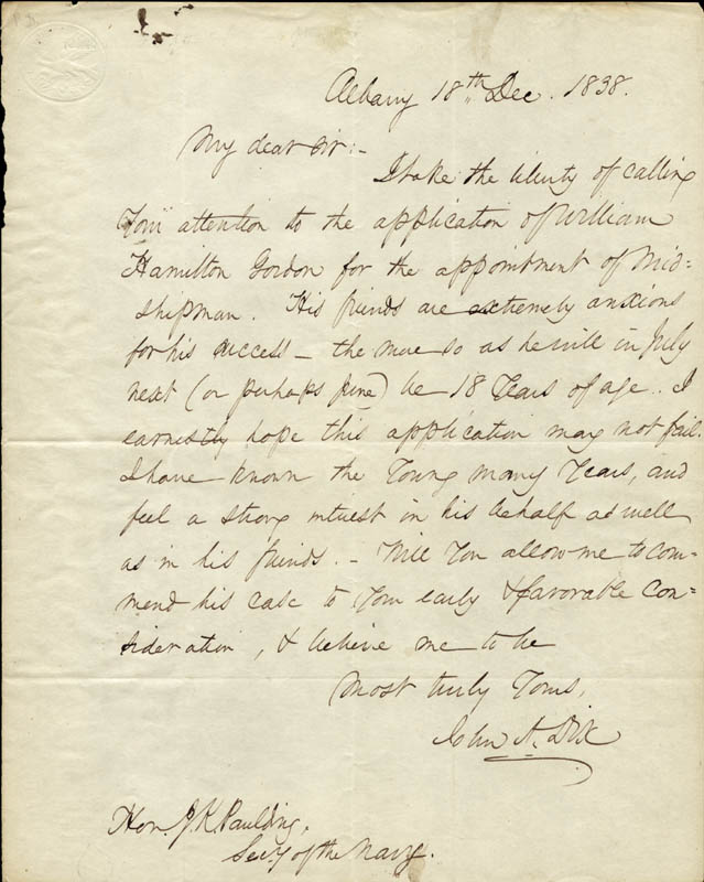 Image 1 for Major General John A. Dix - Autograph Letter Signed 12/18/1838 - HFSID 86938