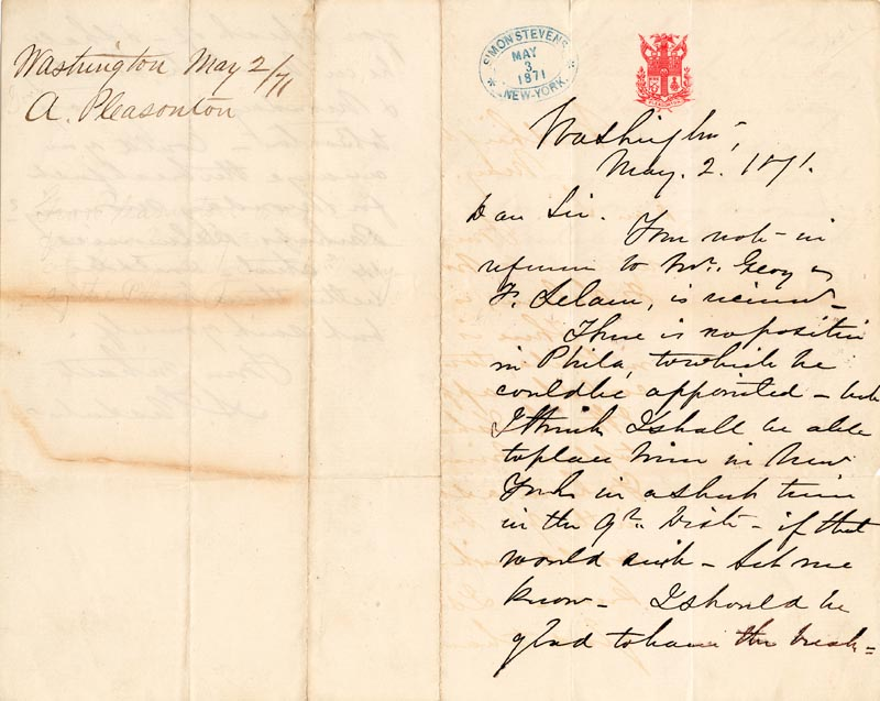 Image 3 for Major General Alfred Pleasonton - Autograph Letter Signed 05/02/1871 - HFSID 86946