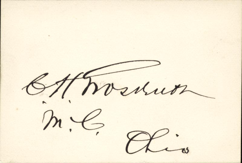 Image 1 for Brigadier General Charles H. Grosvenor - Autograph - HFSID 87001