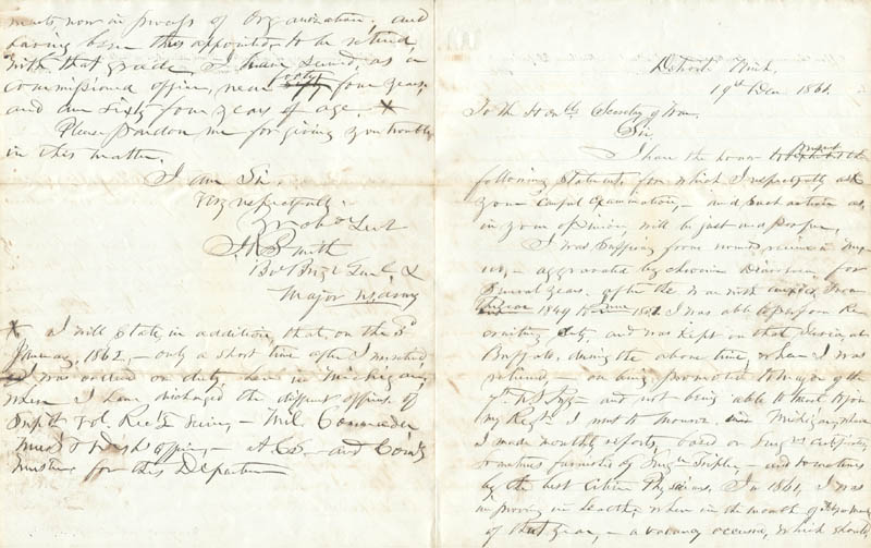 Image 1 for General Joseph Rowe Smith - Autograph Letter Signed 12/19/1866 - HFSID 87118