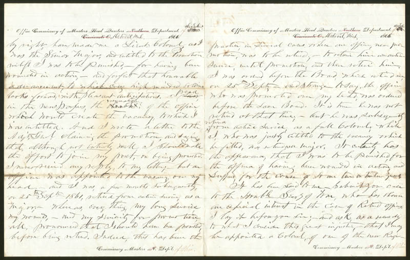 Image 3 for General Joseph Rowe Smith - Autograph Letter Signed 12/19/1866 - HFSID 87118