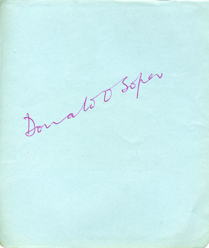 Image 1 for Donald O. Soper - Autograph - HFSID 87150