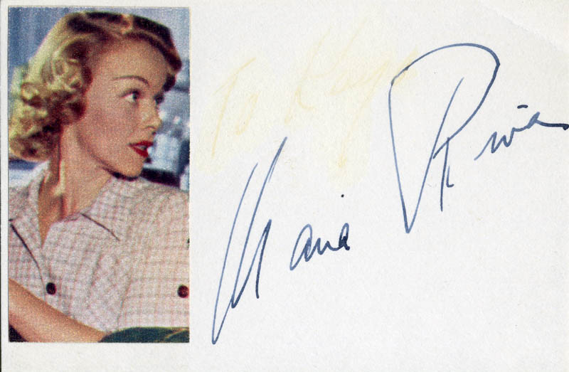 Image 1 for Maria Riva - Autograph - HFSID 87168