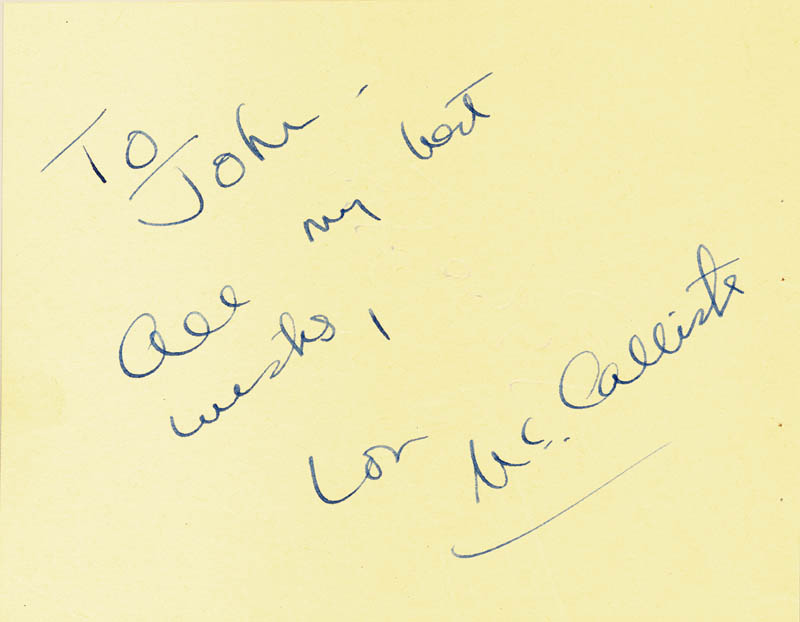 Image 1 for Lon Mccallister - Autograph Note Signed co-signed by: Sylvia Syms - HFSID 87169