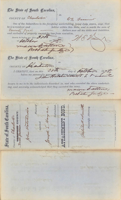 Image 3 for Macon B. Allen - Document Signed 10/30/1878 - HFSID 87231
