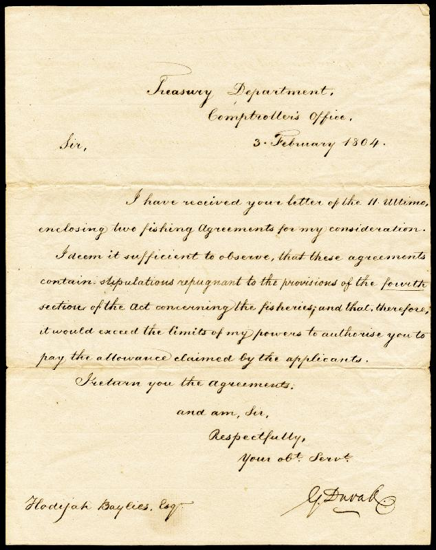 Image 1 for Associate Justice Gabriel Duvall - Manuscript Letter Signed 02/03/1804 - HFSID 87233