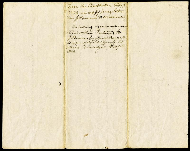 Image 3 for Associate Justice Gabriel Duvall - Manuscript Letter Signed 02/03/1804 - HFSID 87233