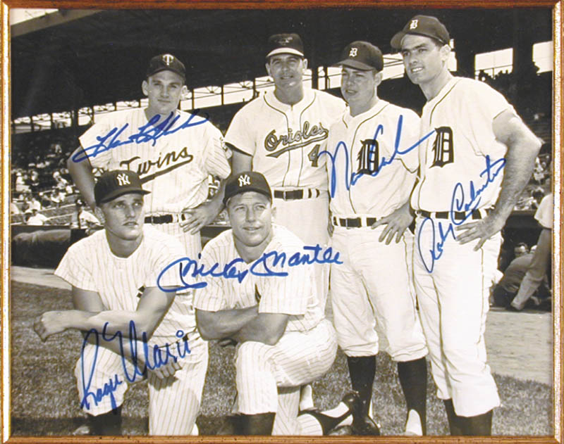 Roger Maris Photograph Signed With Cosigners
