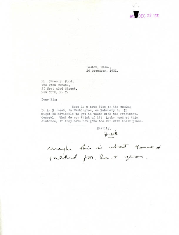 Image 1 for Rear Admiral Richard E. Byrd - Typed Letter Signed 12/26/1931 - HFSID 87373