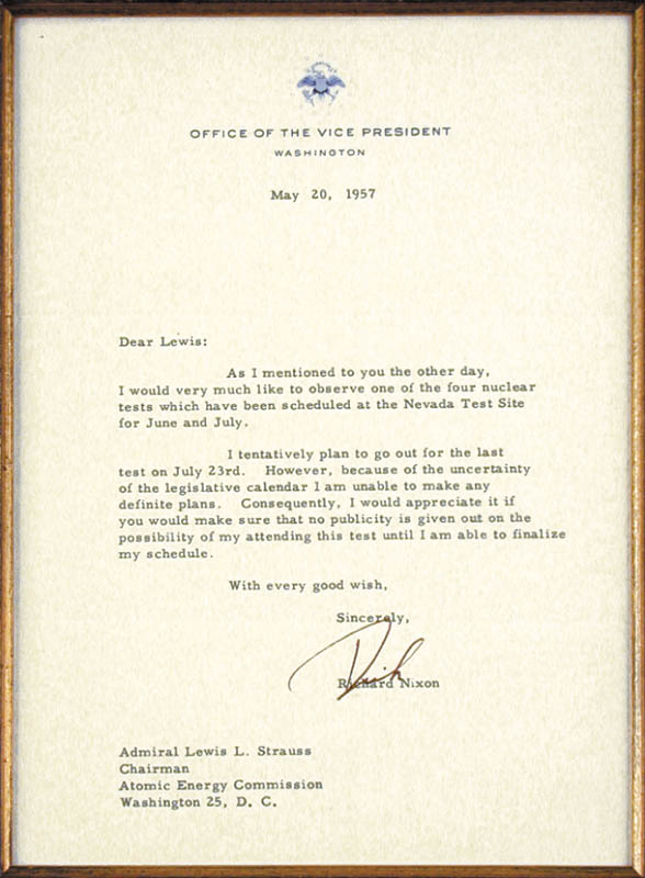 Image 3 for President Richard M. Nixon - Typed Letter Signed 05/20/1957 - HFSID 87611