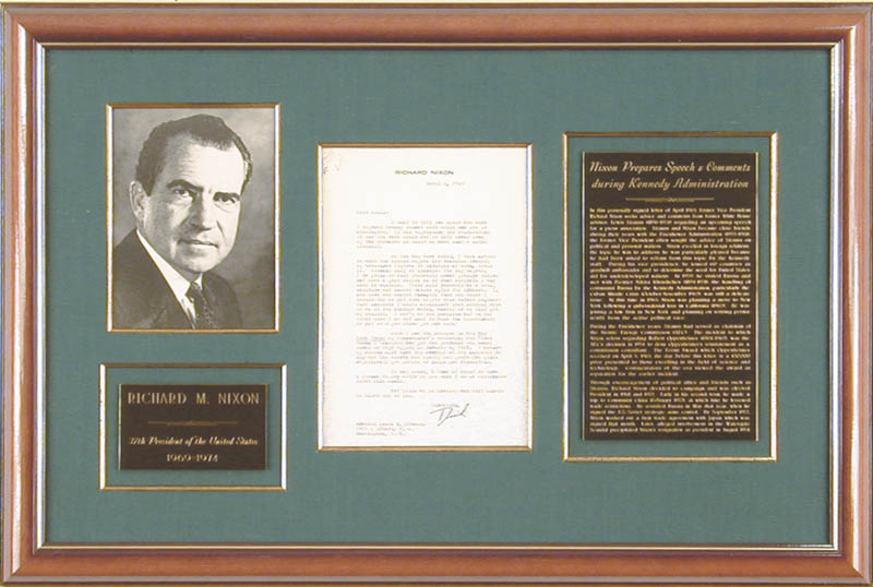 Image 1 for President Richard M. Nixon - Typed Letter Signed 04/06/1963 - HFSID 87638