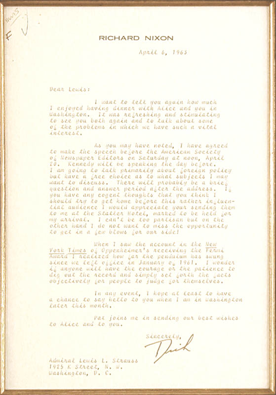 Image 3 for President Richard M. Nixon - Typed Letter Signed 04/06/1963 - HFSID 87638