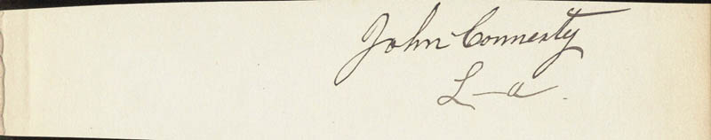 Image 1 for John Connerty - Autograph - HFSID 87959
