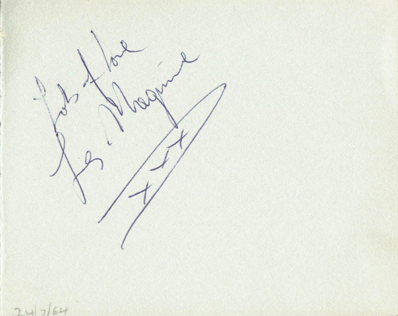 Image 3 for Gerry & The Pacemakers - Autograph Sentiment Signed Circa 1964 with co-signers - HFSID 88004