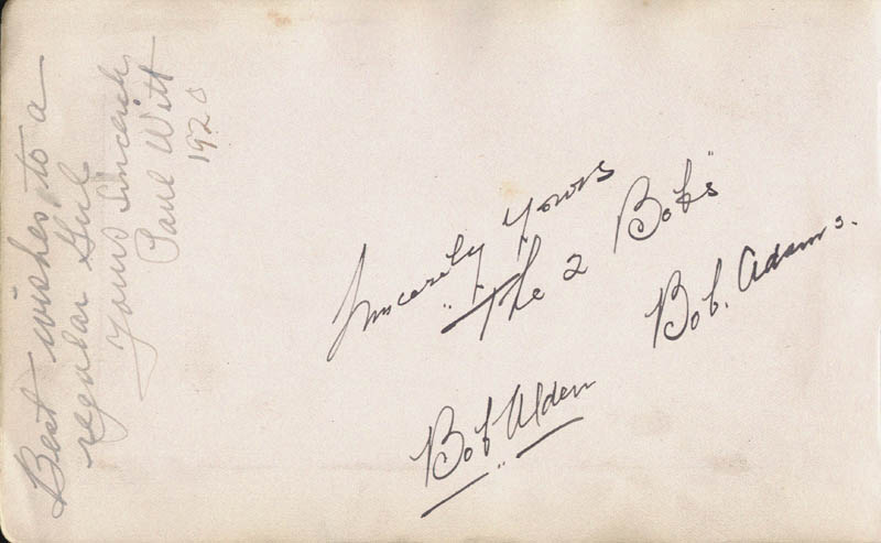 Image 3 for Winnie Collins - Autograph Sentiment Signed 04/06/1918 co-signed by: The Two Bobs (Bob Adams), The Two Bobs (Bob Alden), The Two Bobs - HFSID 88018