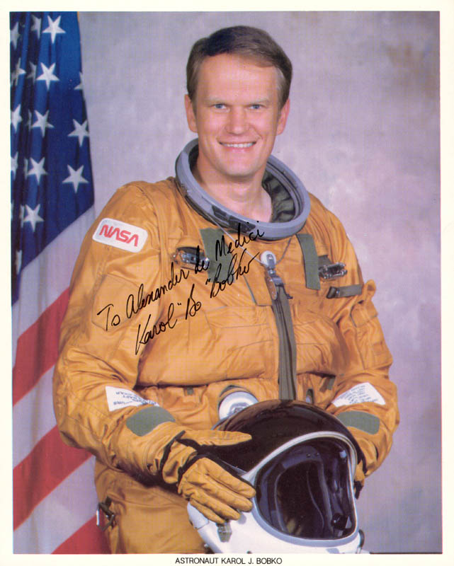 Image 1 for Colonel Karol J. Bobko - Autographed Inscribed Photograph - HFSID 88159