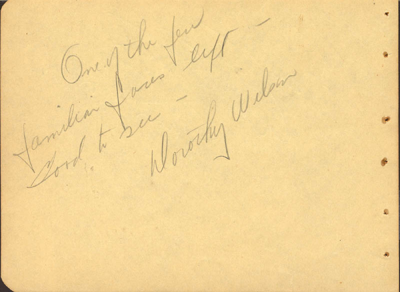 Image 1 for Dorothy Wilson - Autograph Note Signed - HFSID 88306