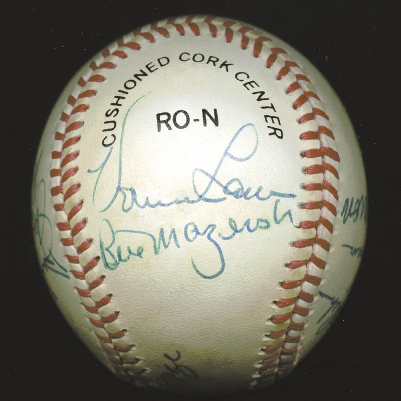 Image 4 for Hank Aaron - Autographed Signed Baseball with co-signers - HFSID 88318