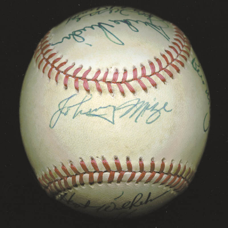 Image 5 for Hank Aaron - Autographed Signed Baseball with co-signers - HFSID 88318