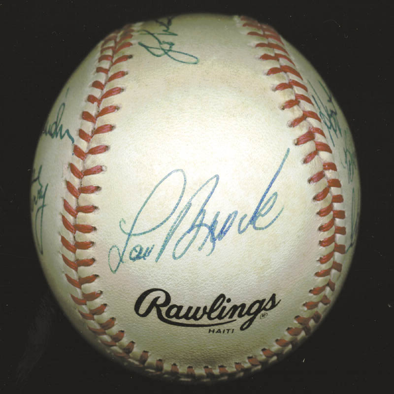 Image 6 for Hank Aaron - Autographed Signed Baseball with co-signers - HFSID 88318