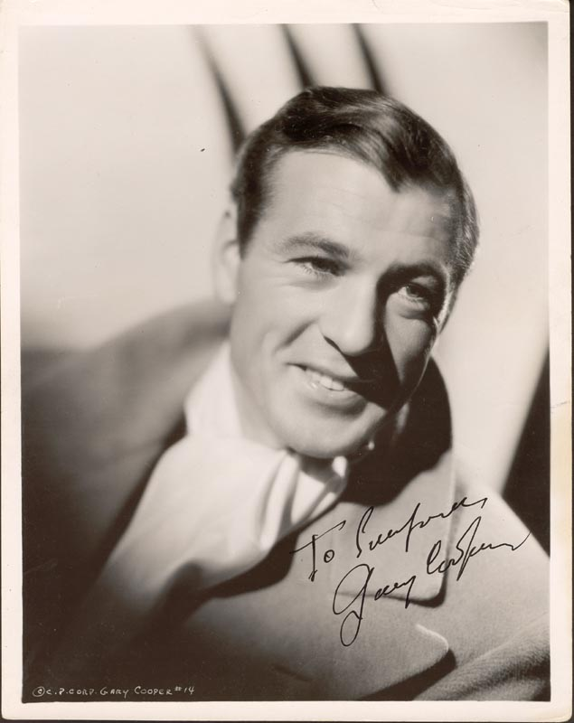 Image 1 for Gary Cooper - Autographed Inscribed Photograph - HFSID 88329
