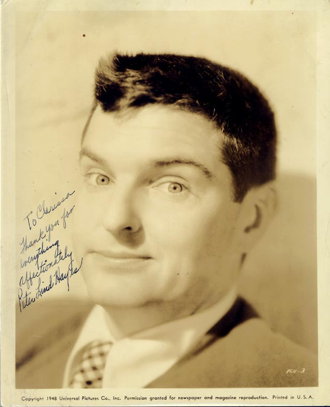 Image 1 for Peter Lind Hayes - Autographed Inscribed Photograph - HFSID 88338
