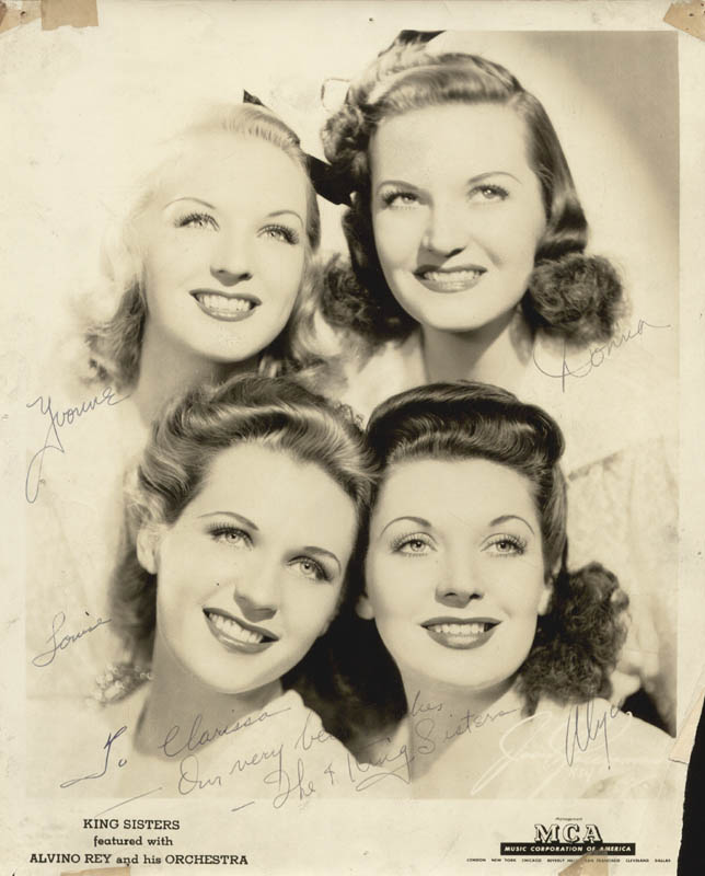 Image 1 for The King Sisters - Autographed Inscribed Photograph with co-signers - HFSID 88342