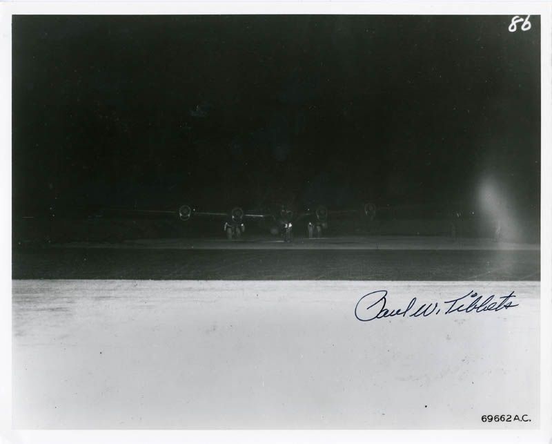 Image 1 for Enola Gay Crew (Paul W. Tibbets) - Autographed Signed Photograph - HFSID 88366