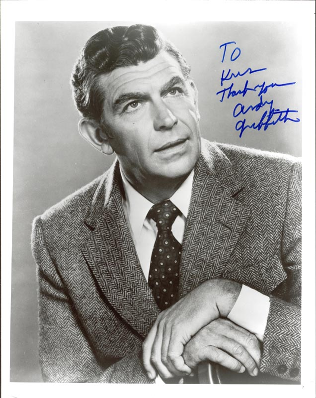 Image 1 for Andy Griffith - Autographed Inscribed Photograph - HFSID 88637