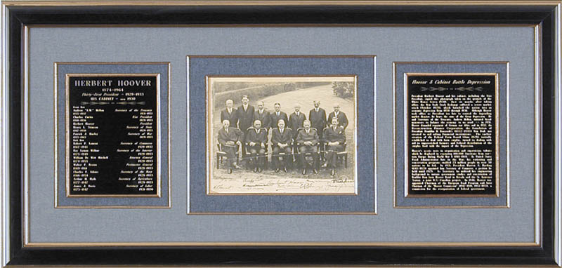 Image 1 for President Herbert Hoover - Autographed Signed Photograph Circa 1930 with co-signers - HFSID 88742