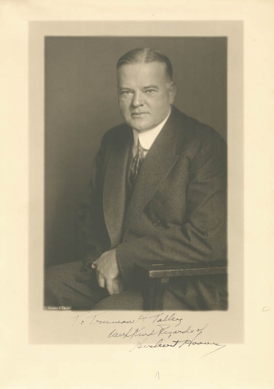 Image 1 for President Herbert Hoover - Autographed Inscribed Photograph - HFSID 88772