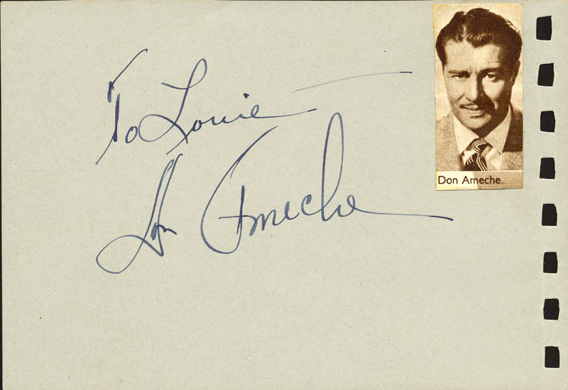 Image 1 for Don Ameche - Inscribed Album Leaf Signed co-signed by: Nanci Crompton - HFSID 88809
