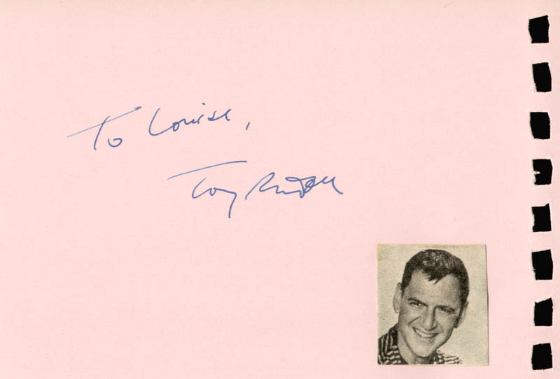 Image 1 for Tony Randall - Inscribed Signature co-signed by: Anna Maria Alberghetti - HFSID 88810