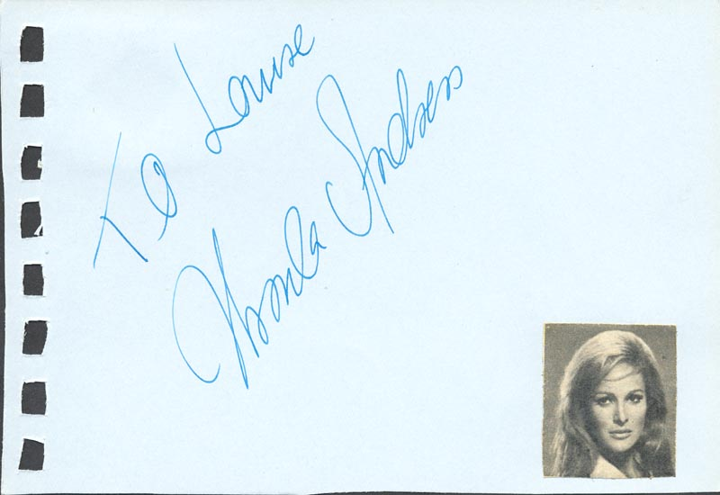 Image 3 for Stefanie Powers - Autograph Note Signed co-signed by: Ursula Andress - HFSID 88817