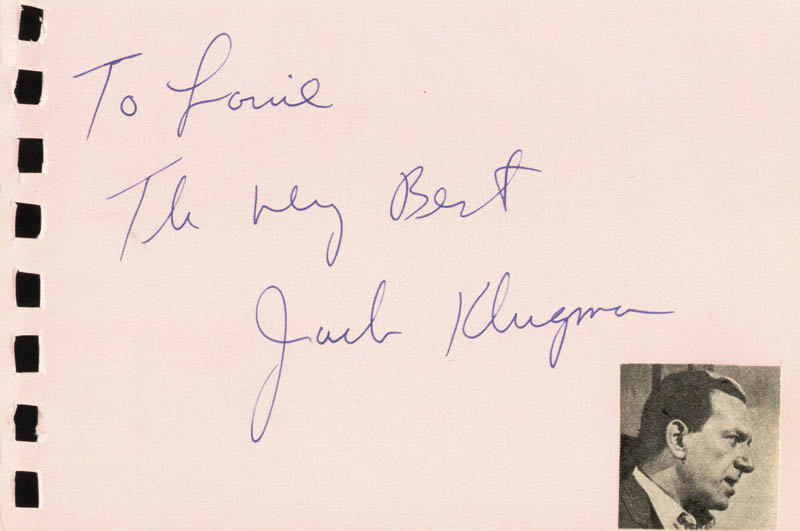 Image 1 for Jack Klugman - Autograph Note Signed co-signed by: Della Reese - HFSID 88831