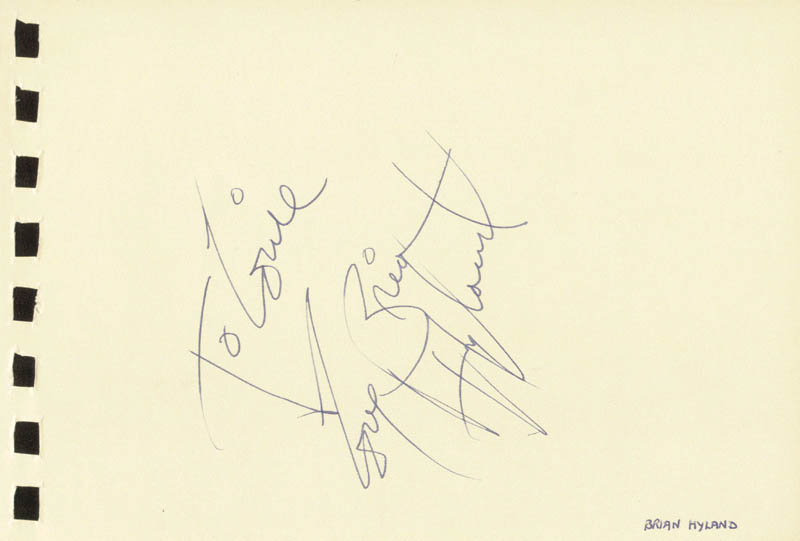 Image 3 for Tommy Roe - Inscribed Signature co-signed by: Brian Hyland - HFSID 88841