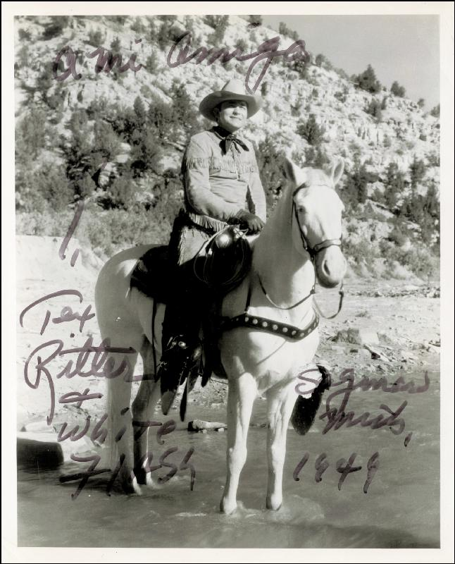 Image 1 for Tex Ritter - Autographed Inscribed Photograph 1949 - HFSID 88911