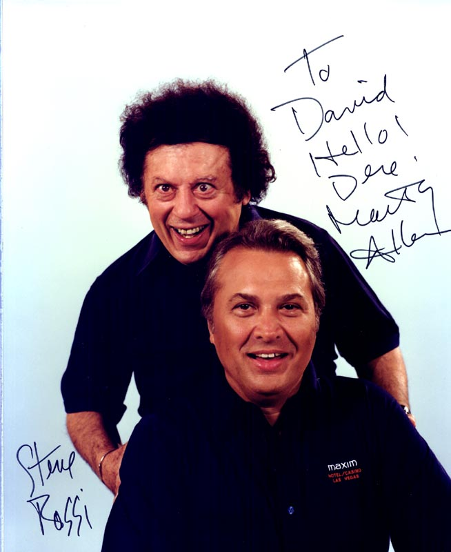 Image 1 for Marty Allen - Autographed Inscribed Photograph co-signed by: Steve Rossi - HFSID 88990