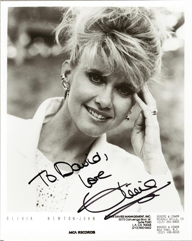 Image 1 for Olivia Newton-john - Autographed Inscribed Photograph - HFSID 89019