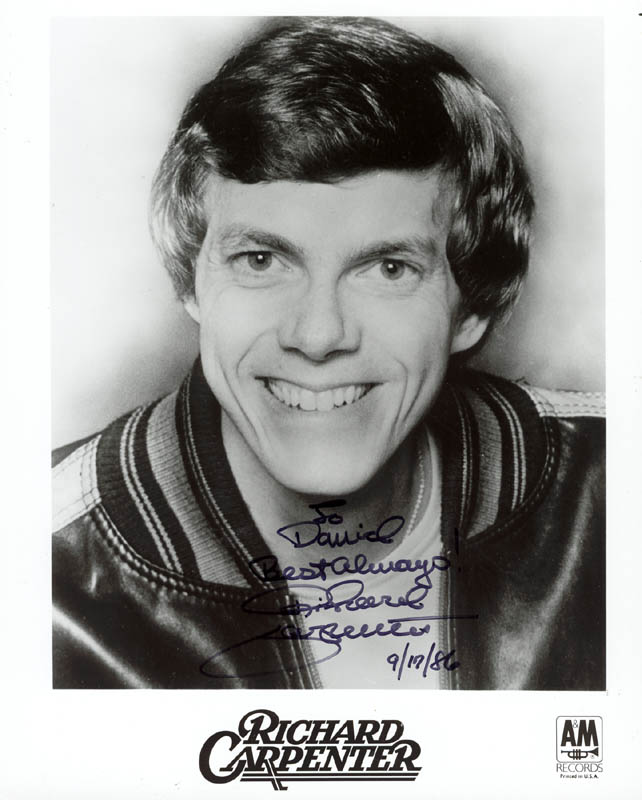 Image 1 for Richard Carpenter - Autographed Inscribed Photograph 09/17/1986 - HFSID 89028